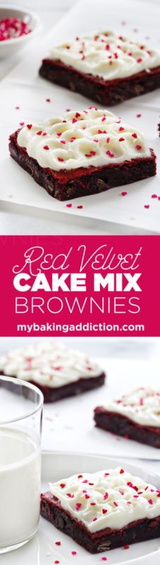 Red Velvet Cake Mix Brownies so easy and so darn good!