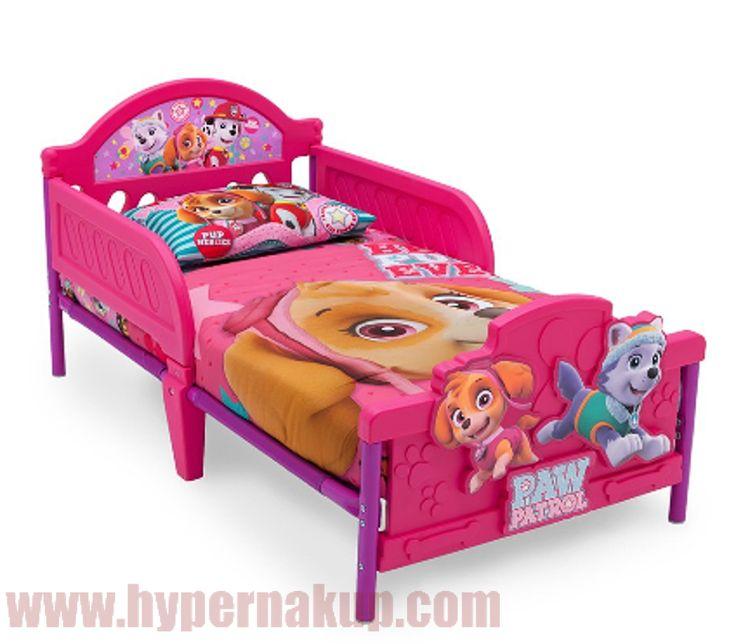Detská posteľ ružová PAW PATROL 146 x 76 cm