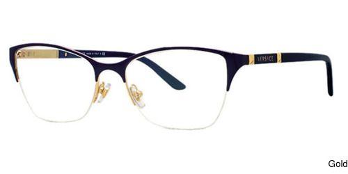 Buy Versace VE1218 Semi Rimless / Half Frame Prescription Eyeglasses