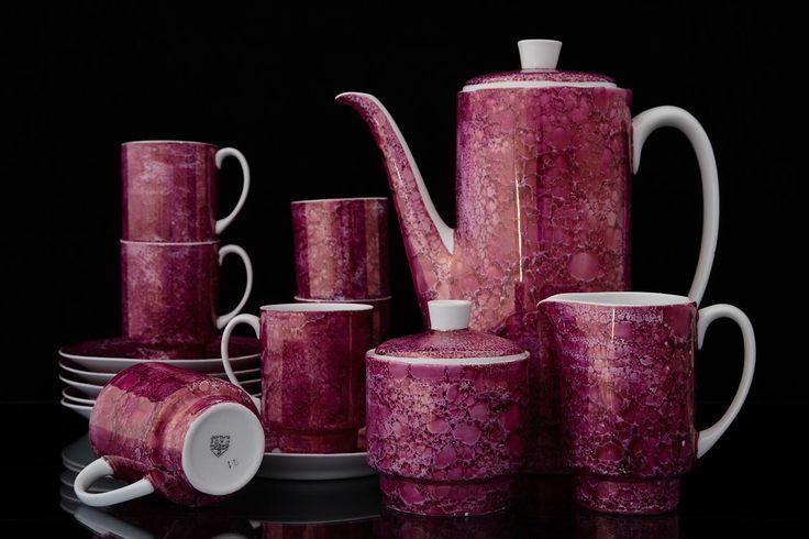 SERWIS DO KAWY - LONDON, ĆMIELÓW, DESIGN 1962 (Antyki i Sztuka Antyki Ceramika Naczynia do kawy i herbaty)