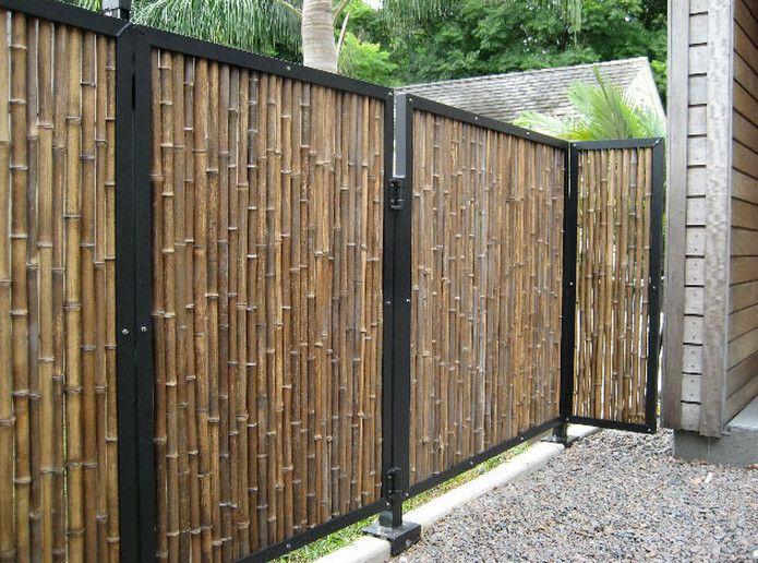 outdoor bamboo privacy screen interesting ideas for home. Black Bedroom Furniture Sets. Home Design Ideas