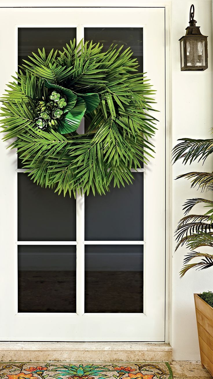 Lend a tropical touch to your door's decor with our Isle of Palms Wreath.