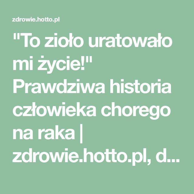 """""""To zioło uratowało mi życie!"""" Prawdziwa historia człowieka chorego na raka   zdrowie.hotto.pl, domowe sposoby popularne w necie"""