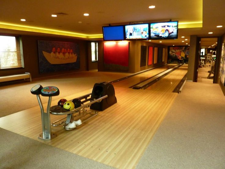 1000 images about luxury living home bowling alley on for House plans with bowling alley
