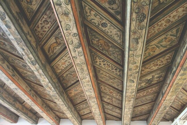 Lovely old ceiling of a bakery in Gamla Stan, Stockholm.