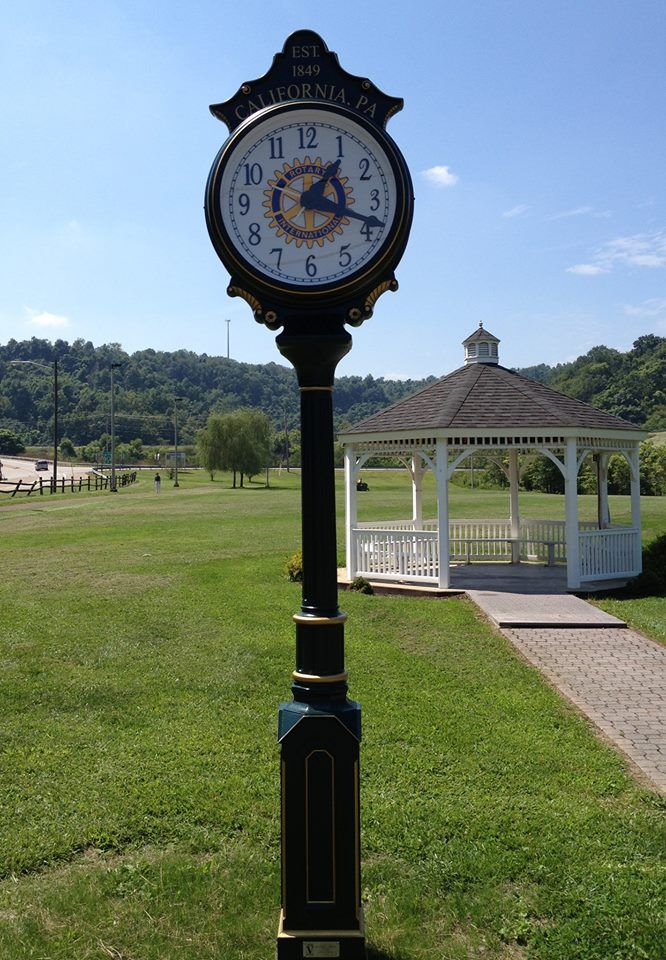 Rotary Club of California donated this park clock