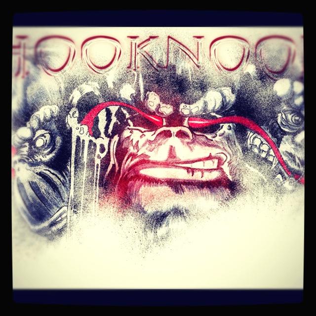 Detail from the new RedHookNoodles facebook header I made.  See,hear,speak no evil?