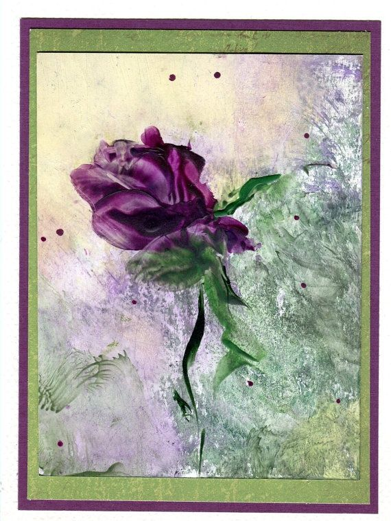 encaustic painting pinterest | ... encaustic painting on a greeting card can be ... | Encaustic