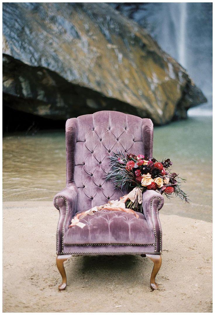 Bouquet Of Jewel Tone Blooms By Lauren Emerson Events U0026