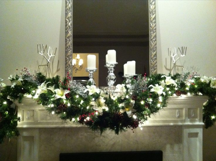 69 best images about christmas fireplace mantels on for Decorating your mantel