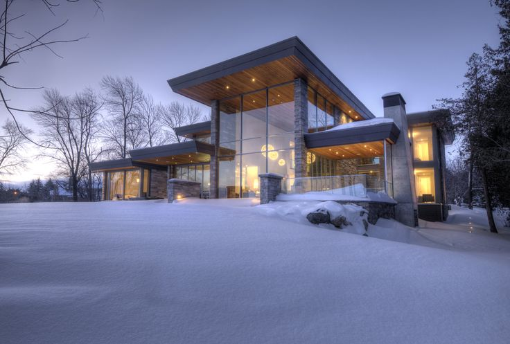 Glass House on the Lake