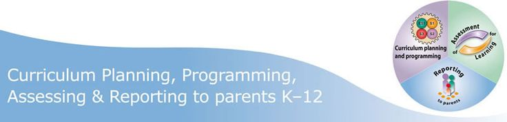 Curriculum Planning, Programming, Assessing and Reporting to Parents K-12