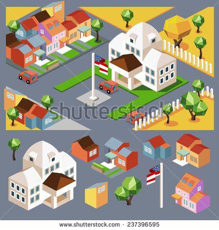 アイソメトリック 街 写真素材・ベクター・画像・イラスト   Shutterstock