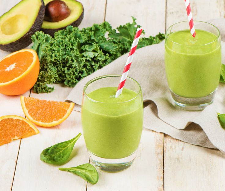 Grön smoothie med avokado och spenat | Recept ICA.se