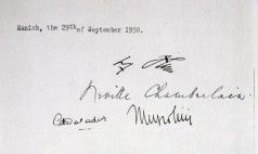 Signature page of the Munich Agreement.