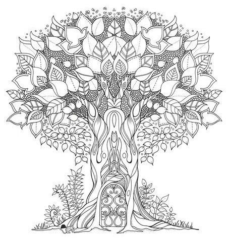 Enchanted Forest, Johanna Basford. Coloring pages for grown ups