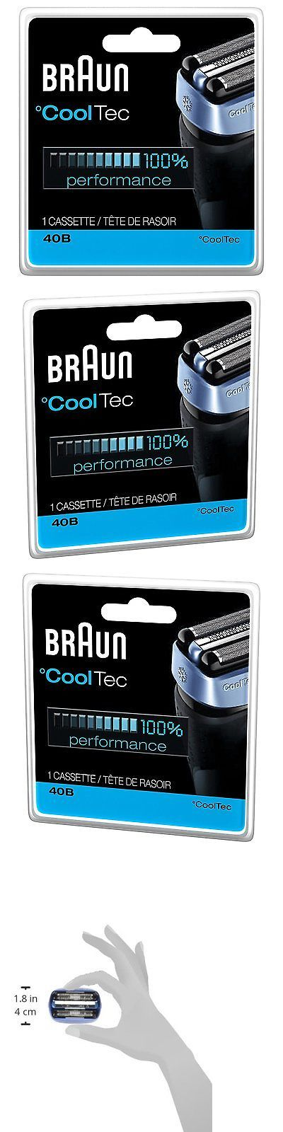 Shaver Parts and Accessories: Braun 40B Cooltec Shavers Series Replacement Shaving Foil Head And Cutter... BUY IT NOW ONLY: $44.54