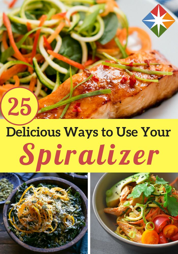 Not sure what to do with all those veggie ribbons and zoodles? Try these 25 spiralizer recipes today! What an easy way to get some healthy veggies in place of pasta, rice or other carbs. Throw them in your salad for a new twist!