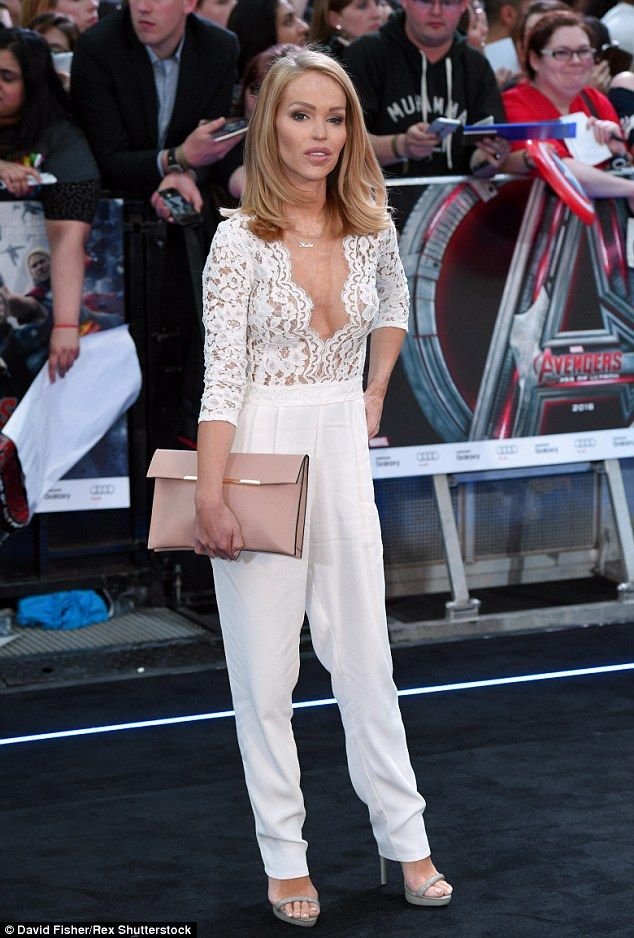 Katie Piper.. Miss Milne Heart Of Glass Jumpsuit..