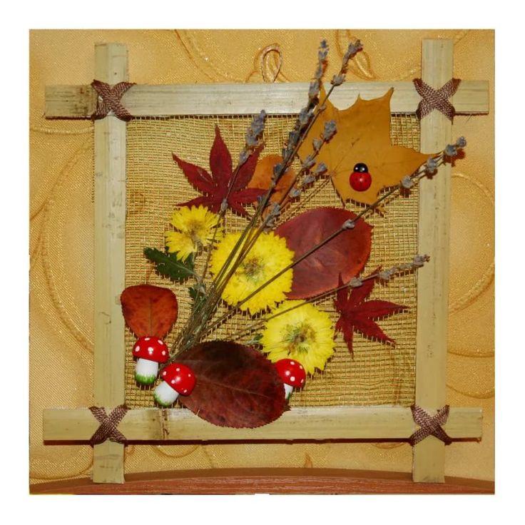 Приятным, открытки из природного материала на тему осень