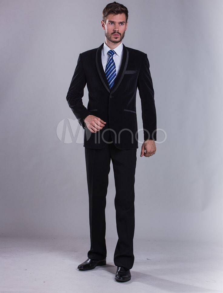 Back Split Evening Suit With Button - Milanoo.com