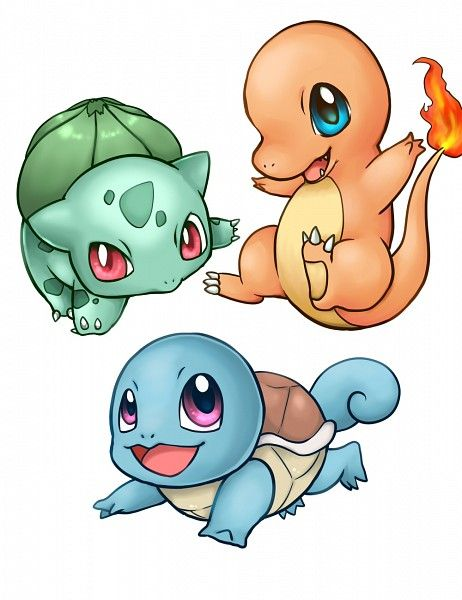 Bulbasaur, Charmander, Squirtle...awe!!!!! So freaking adorable!!!! ^ ^
