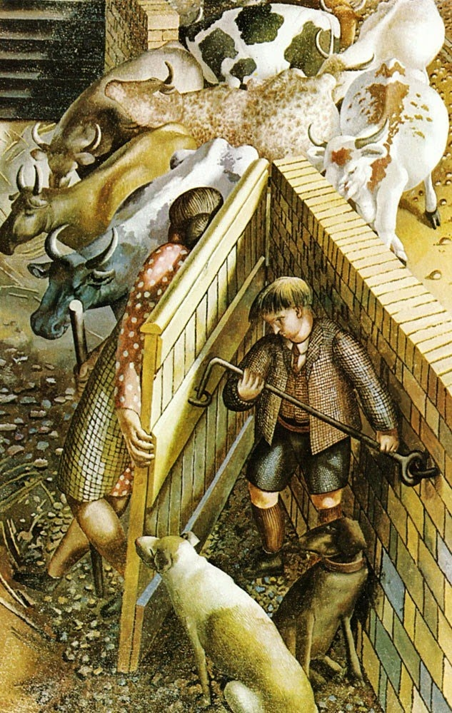 It's About Time: Countryside 'Cookham Farm Gate' 1950 - Stanley Spencer - English 1891- 1959