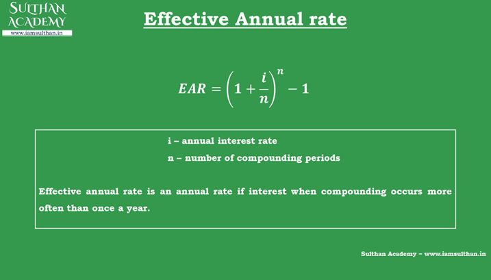 how to choose the best effective annual rate