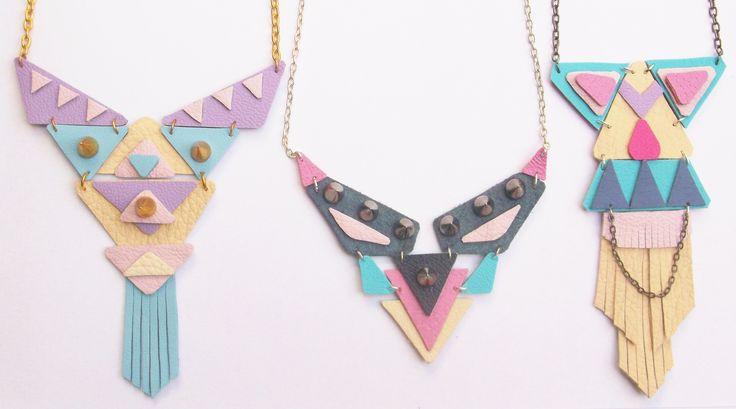 Laroca Tribe pastel candy statement necklace. Shop here https://www.etsy.com/uk/shop/LarocaTribe?ref=hdr_shop_menu