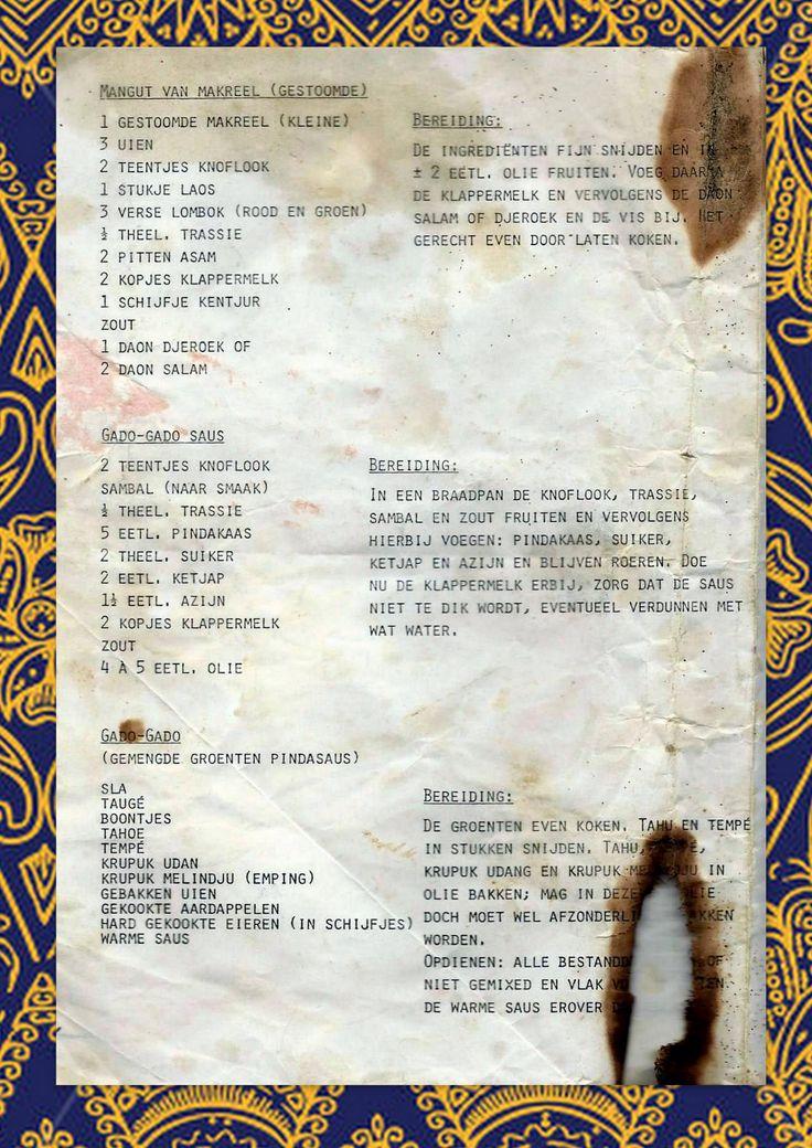 De aantekeningen van oma Tillie: makreel en gado gado.