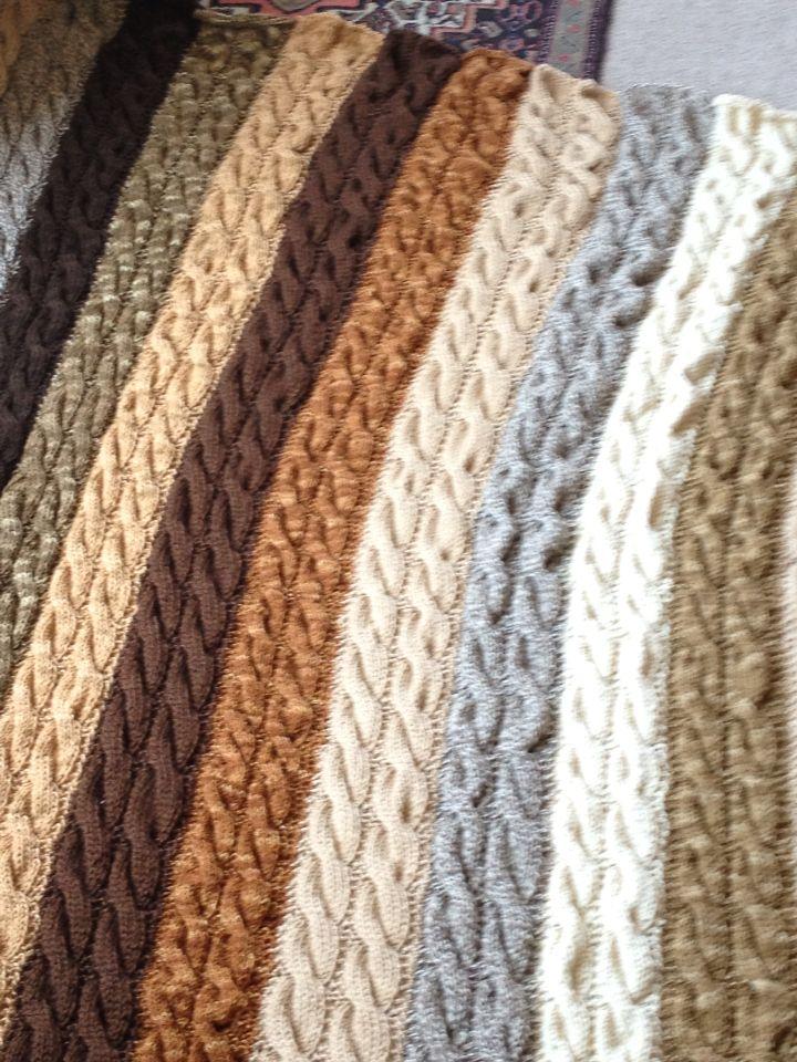 Piecera de trenzas de lana