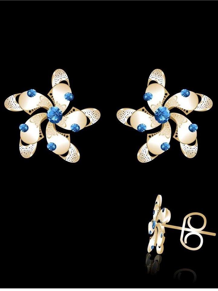 Maya's Blue Light earrings