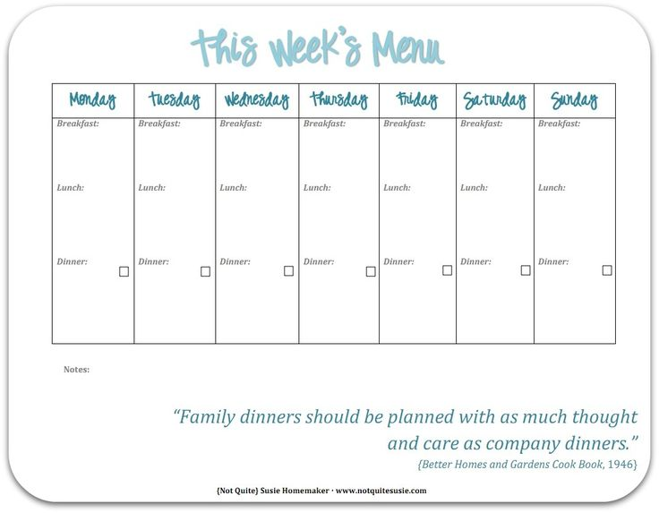 Best  Menu Planners Ideas On   Menu Planner Printable