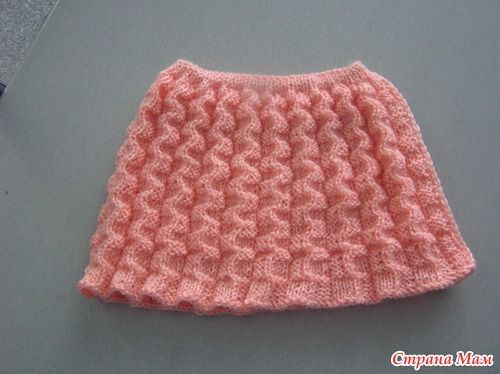 вязание спицами юбки для девочки спицами