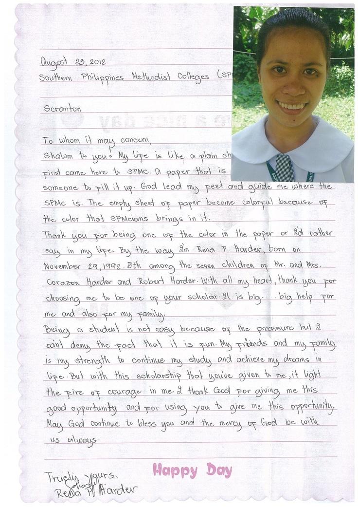 Rena from Harris Memorial College, Philippines