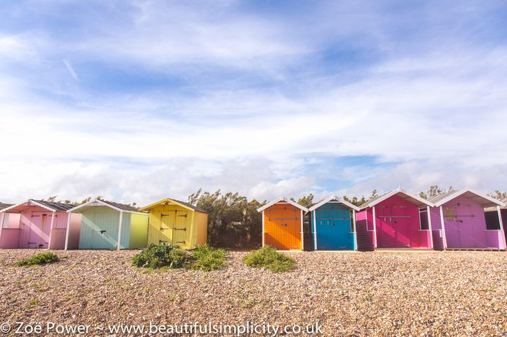A rainbow of colourful beach huts by the sea near East Preston :: Beach hut hunting in West Sussex — Beautiful Simplicity