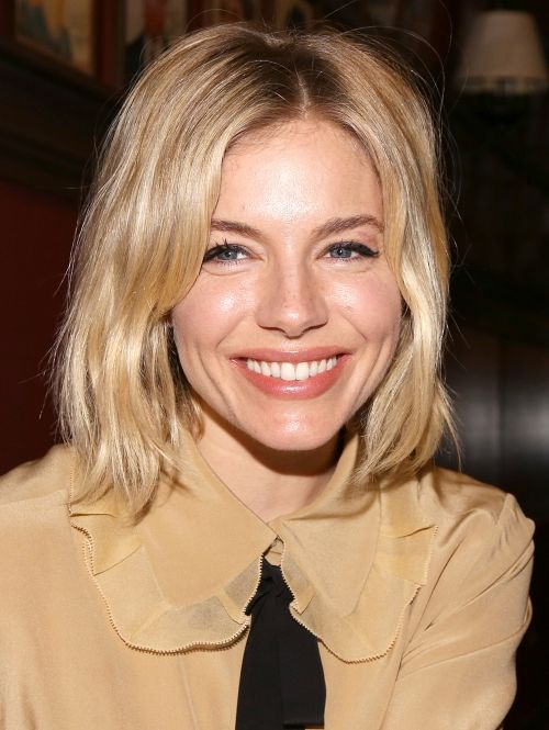 So do the on-trend messy bob of Sienna Miller after