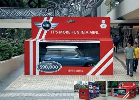 """""""It's more fun in a Mini"""" - Guerilla marketing"""