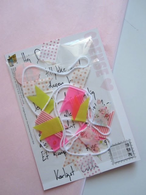 """Snail Mail gift - MT-flags tiny banner with """"smile and have a beautiful day"""""""