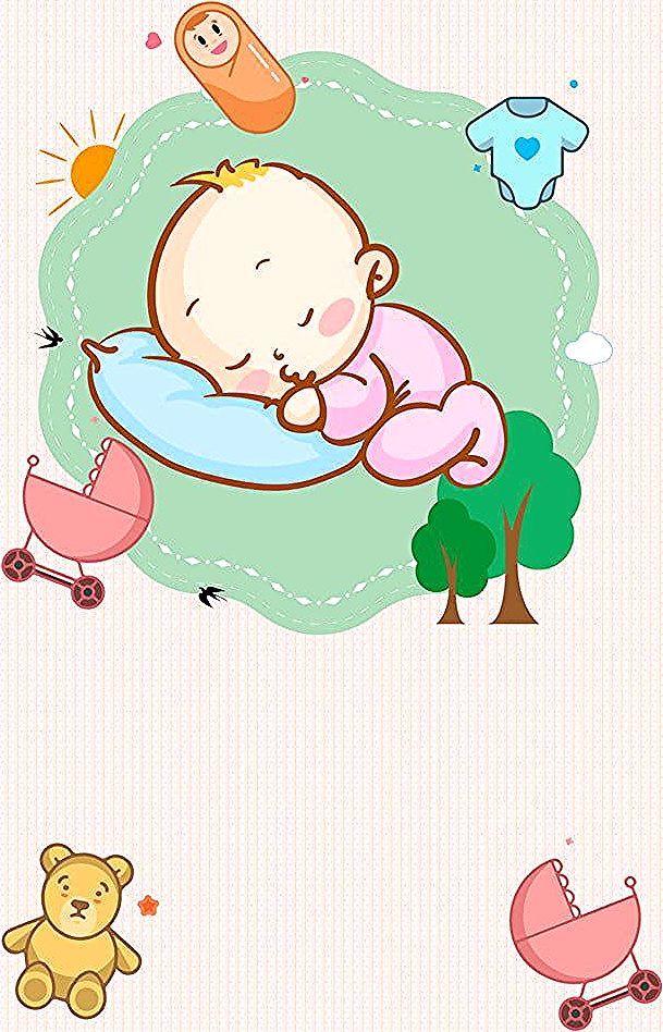 Penjagaan Bayi Baru Lahir Kartun Merah Jambu Bayi In 2020 Newborn Care Newborn Cartoon Background