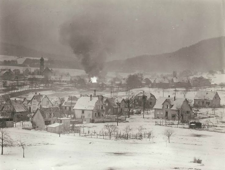 American forces are trying to recapture Wingen-sur-Moder from German mountain 6 General Charles Day Palmers Recently Discovered Pictures Show The Horrors Of The Nazi Retreat
