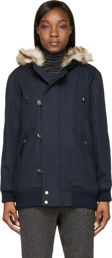 A.P.C. Navy Insulated Snow Coat