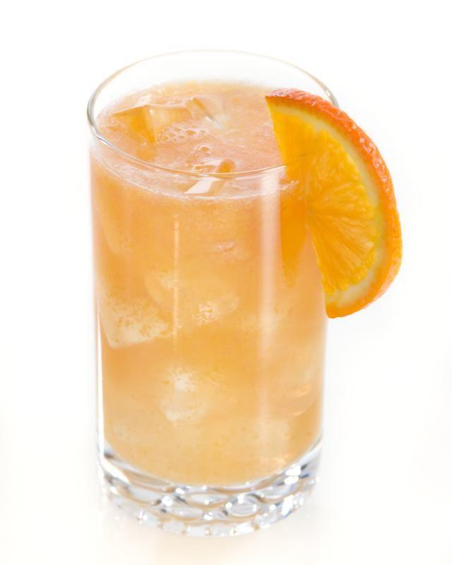 Hairy Navel = Fuzzy Navel + vodka | 1 oz Vodka, 1 oz Peach Schnapps, orange juice to fill (2.5 oz)