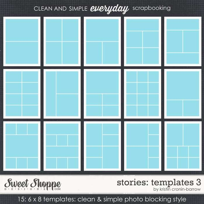 Layout templates (12 x12, 8.5 x 11, and 6 x 8)