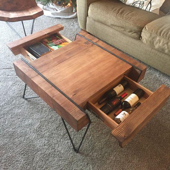 Pallet Coffee Table With Hidden Storage: Block Coffee Table With Hidden Storage