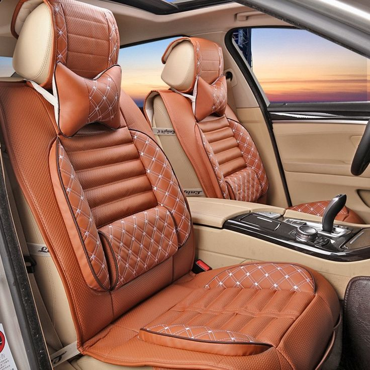 Car Seat Cushion Four Seasons 2Pillows As Gift High Quality Embroidery Danny Leather Car Seat Cover Universal Luxury Car Seat