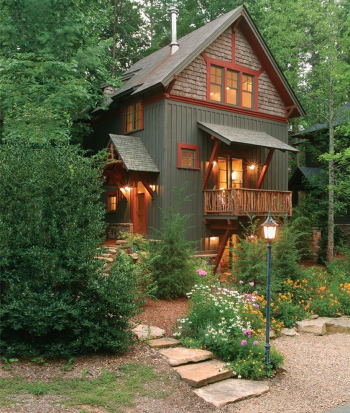 484 best small house living images on pinterest for Small cabin living