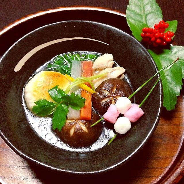 鶏のお雑煮 New Year dish