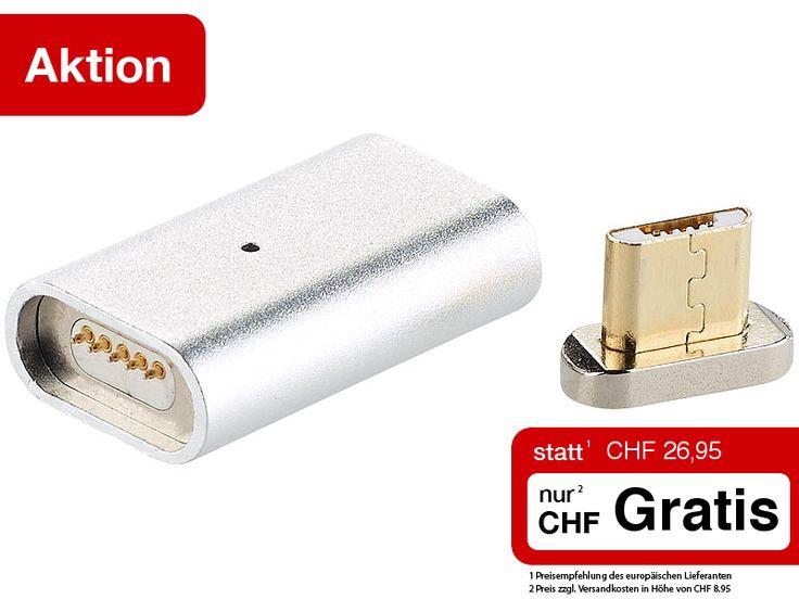 Wer kennt das nicht: das Ladekabel will einfach nicht im Smartphone halten. Also umdrehen und nochmal probieren...   Damit ist jetzt Schluss. Ab sofort docken Sie Ihr Micro-USB-Ladekabel einfach magnetisch an Ihr Mobilgerät an.  Sie erhalten das nervenschonende magnetische Adapter-Set heute GRATIS.  Jetzt zugreifen: http://www.pearl.ch/so/search.do?catc1=1059-6+1051-6&pdid=CHG12844+CHA12844&vid=613&wa_id=26&wa_num=1