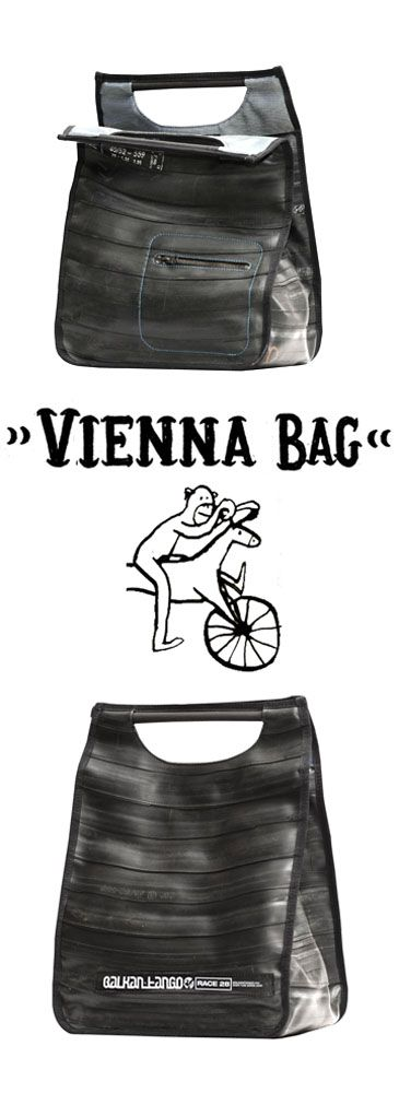 ladies's bag made of recycled bicycle inner tube  (of course :)